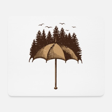 Forest Umbrella with forest - Mouse Pad