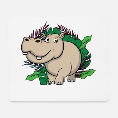 Homme Vert Hippo Jungle, roi de la jungle - Tapis de souris