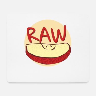 Raw Raw apple - Mouse Pad