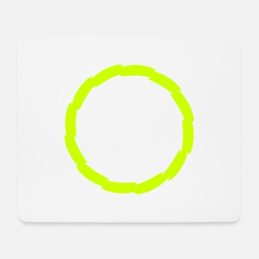Circle circle shape yellow - Mouse Pad