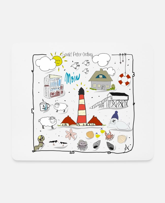 Coast Mouse Pads - Sankt Peter-Ording love - Mouse Pad white