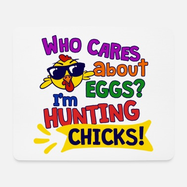 Dizeyns Easter chick chick funny sayings happy easter - Mouse Pad
