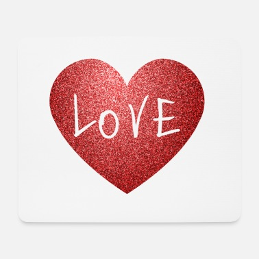 Valentines Cool Sparkle Effect Love Heart Valentine's Day.MOM - Mouse Pad