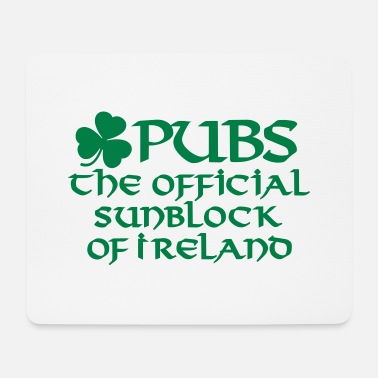 Guinness Pubs the official sunblock of Ireland funny Irish - Mouse Pad