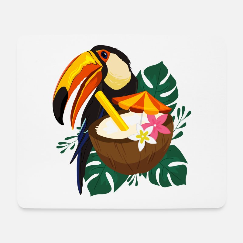 Toucan Mouse Pads - Toucan summer / summer / sun - Mouse Pad white