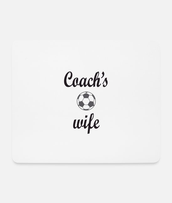 Ball Mouse Pads - Football Coach Wife Gift - Mouse Pad white
