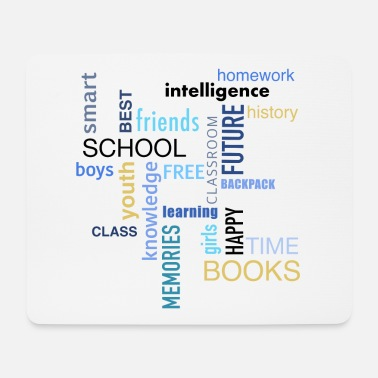 Brother Of Birthday Boy Word cloud - School Books homework - Mouse Pad