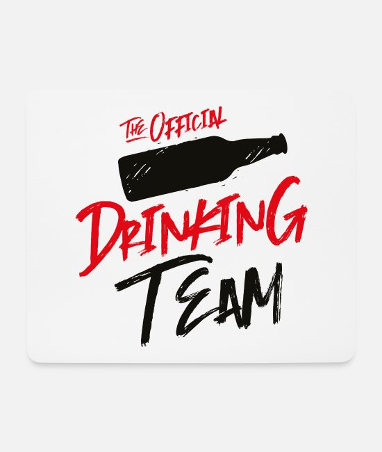 Group Mouse Pads - drinking team drinking - Mouse Pad white