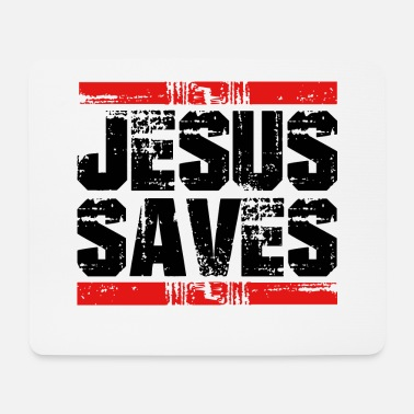 Save Jesus saves saves - Mouse Pad