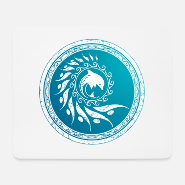 Shield Atlantis Nautilus Dolphin Tribal - Mouse Pad