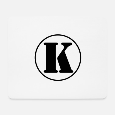 First Name K letter initial letter alphabet last name first name - Mouse Pad