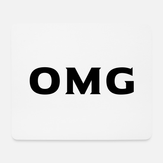 Omg Mouse Pads - omg - Mouse Pad white