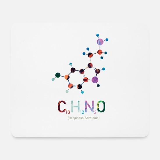 Chemistry Mouse Pads - happiness chemistry colorful - Mouse Pad white