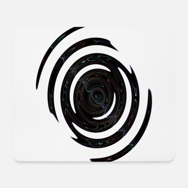 Abstract Violet neon spiral - Mouse Pad