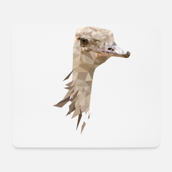 Gift Idea Mouse Pads - Ostrich Allegedly Design - Mouse Pad white