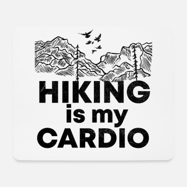 Grill Hiking is my training funny saying shirt - Mouse Pad