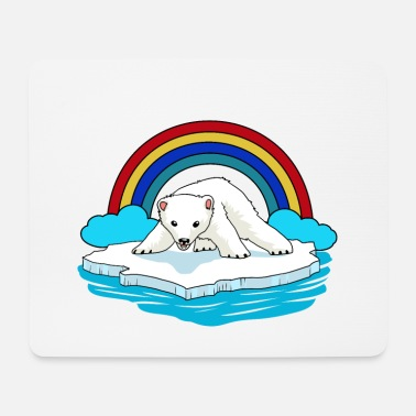 Conservation Polar Bear Arctic Rainbow Climate Change Children Baby - Mouse Pad