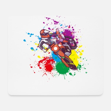 Motor Colored Motocross gift for Biker - Mouse Pad