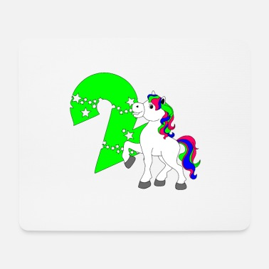 Birthday Horse two years birthday - Mouse Pad