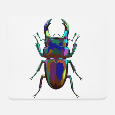 Colored Stag Beetle - Mouse Pad