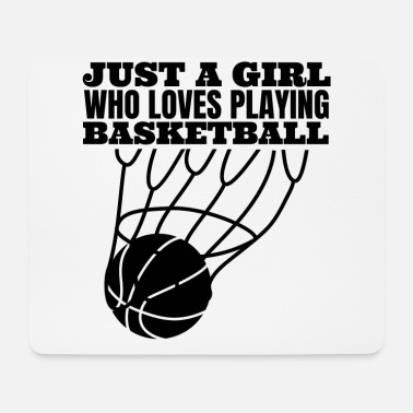 Spielball Basketball Frau Basketballliebhaber Basketballerin - Mousepad