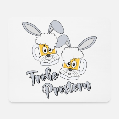 Saufen Prosterhase Frohe Prostern Ostern Osterhase Bier - Mousepad