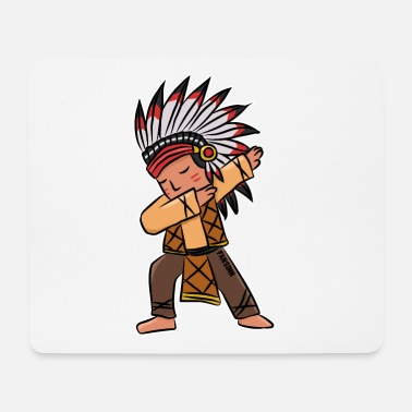 Iroquois Kids indian chief dabbing dance gift - Mouse Pad