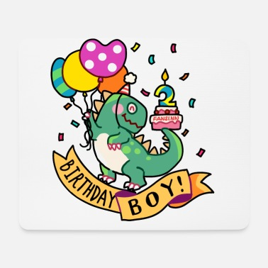 Boy Dinosaur 2 Birthday boy T-Rex dinosaur two 2 gift - Mouse Pad