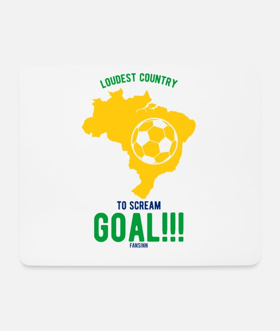 South America Mouse Pads - Brazil South America Portugal tropical - Mouse Pad white