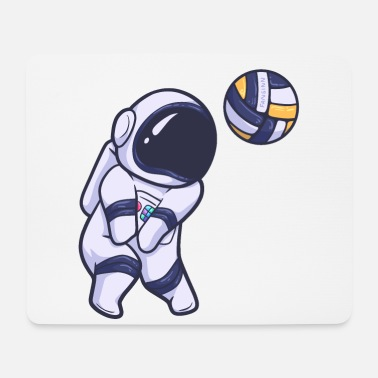 Space Astronaut volleyball sport space - Mouse Pad