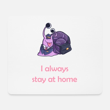 Occupation stay at home snail shell vineyard animal - Mouse Pad