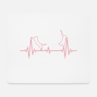 Heartbeat Cat heartbeat heartbeat - Mouse Pad