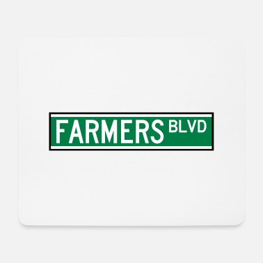 Long FARMERS BLVD SIGN - Tapis de souris