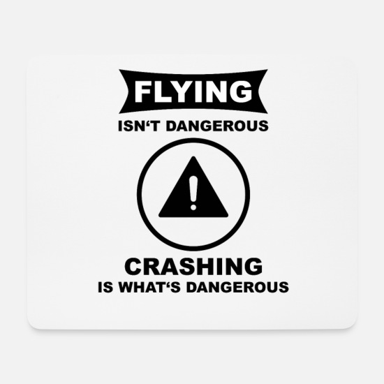 Gift Idea Mouse Pads - fly danger - Mouse Pad white