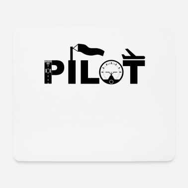 Airfield pilot aviation airfield - Mouse Pad