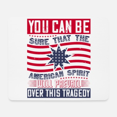 Afro Patriot Day American Spirit will prevail - Mousepad