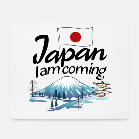 Mountains Mouse Pads - Japan I am coming - Mouse Pad white