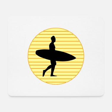 surf with board - Surfen mit Brett - Mousepad