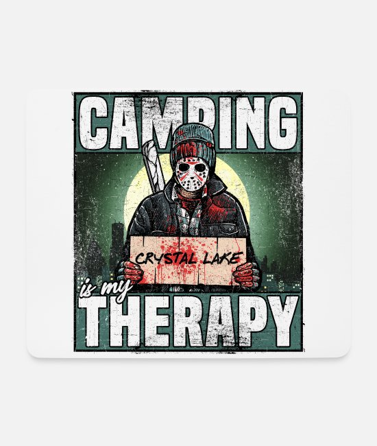 Tent Mouse Pads - camping is my therapy shirt for the campsite - Mouse Pad white
