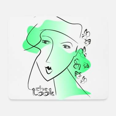Face 8 green (The Look series) - Mouse Pad
