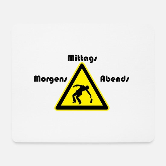 Party Mousepads  - Morgens Mittags Abend Party - Mousepad Weiß