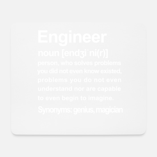 Student Mouse Pads - Engineer Description - Mouse Pad white