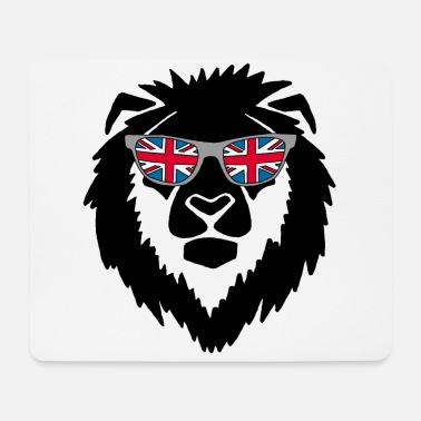 The British Empire United Kingdom lion (black) - Mouse Pad