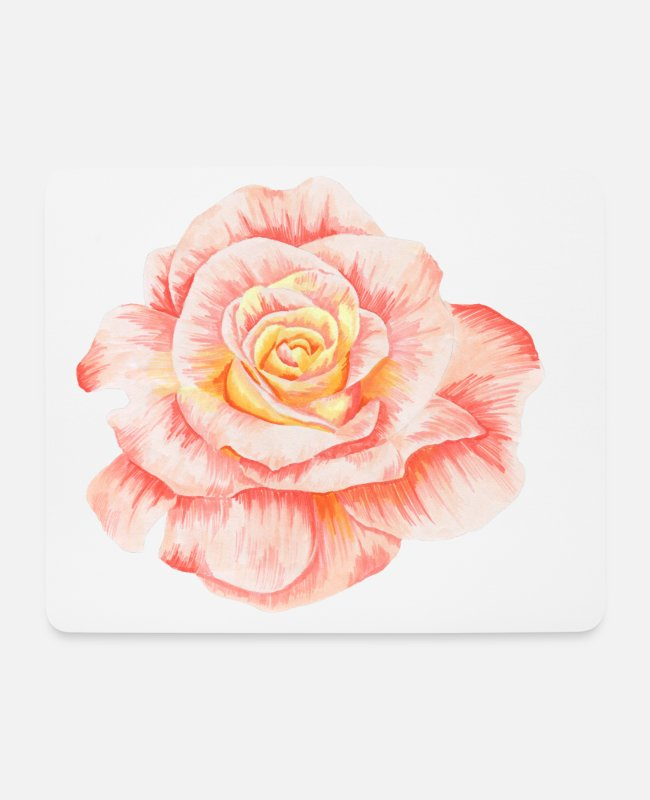 New Mouse Pads - FLOWER - Mouse Pad white