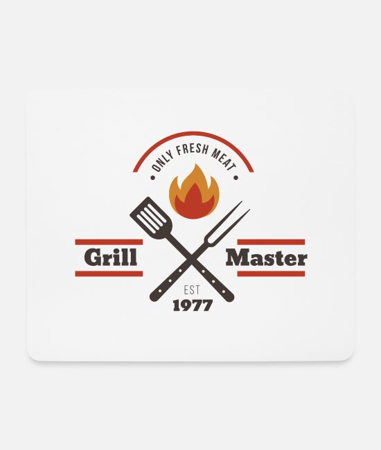 BBQ Mouse Pads - Grillmaster - Mouse Pad white
