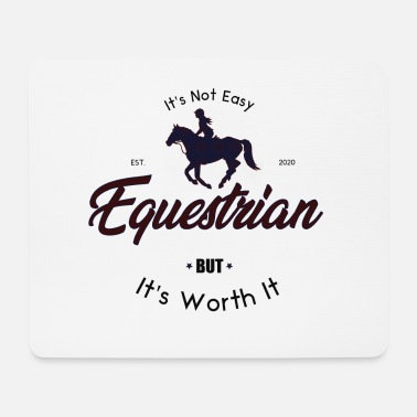 Equestrian Wheel equestrian WITH HORSE - Mouse Pad