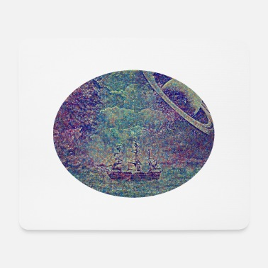 Nautical Sailing ship in space - Mouse Pad