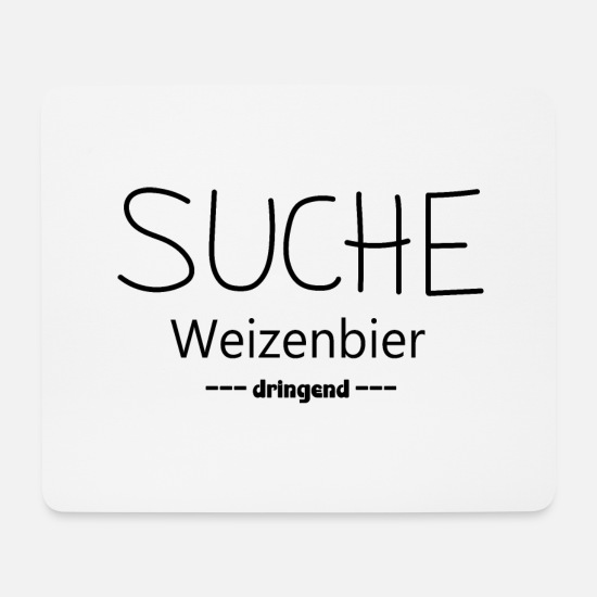 Bierkoenig Mouse Pads - Search wheat beer - Mouse Pad white