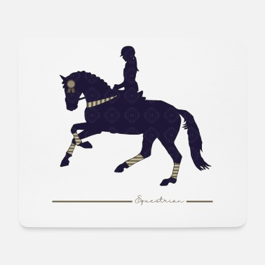 Equestrian Wheel EQUESTRIAN equestrian horse rider - Mouse Pad