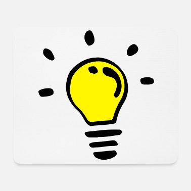 Light Bulb Colored light bulb - Mouse Pad